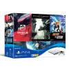 Sony (SONY) [хозяин] Госбанк PS4 PlayStation 4 игровой консоли шедевр костюм 500GB (белый) с четырьмя играми аксессуар для игровой консоли playstation 4 крышка отсека hdd серебристая sleh 00327