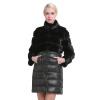 Sarsallya Женские зимние подлинная норки вн пальто 38-58 плюс размер толстые теплые норковые пуховая часть отстёгивает