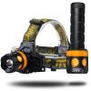 Superbright LED Headlamp 2 Light Head Head Troch Водонепроницаемая аккумуляторная батарея для фонарей Регулируемая литий-ионная ба