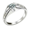 Yoursfs@ 18K Gold Plated Unique Cubic Crystal Wedding Rings for Best Gift yoursfs heart necklace for mother s day with round austria crystal gift 18k white gold plated