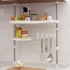 Run Europe Чжэ нержавеющей многофункциональный стойку вертикально регулируемый подвесной кухонный шкаф для хранения белый кухонный шкаф где