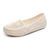 Женские летние неглубоко роты плоских белых сандалии мягкие нижние полые сандалии 01814 цены онлайн