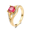 Yoursfs@ Gorgeous 18K Rose Gold Plated Shinning zircon Ring for Wedding yoursfs 18k wihte gold plated zircon adjustable ring