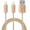 Волшебное кольцо (я-му) один с двумя комбо Apple, 6 / 6с линии передачи данных кабель для зарядки Apple, iPhone5 / 6s / 7 Plus / SE / воздух мини-трикотажной сплава золота Ipad новые 1 2 3м 3 6 10 футов плоской лапши прочной ткани плетеный синхронизации данных зарядный кабель для iphone 5 5с 6 6с плюс ipad мини 4