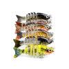 1PC Новые 6 секций Приманка для рыбной ловли 0.08oz-2.35g / 5cm-1.97 «Приманка для рыбалки с приманкой 12 # Черный крючок для рыбалки