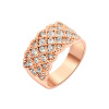 Yoursfs@ 18K Rose Gold Plated Women Queen Band Ring Shiny Pave zircon Rings Wedding Fashion Jewelry