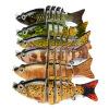 1PC Новые 6 секций Приманка для рыбалки 9cm / 3.8 -0.38oz / 10.68g Приманка для рыбалки для рыбалки 6 # Черный крючок для рыбалки цена