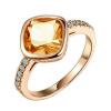 Yoursfs @ Gorgerous Square Big Red Crystal Rings для женщин 18 K Розовое золото Позолоченные кольца Rhinestone 3 цвета Лучшие ювелирные изделия моды Siz