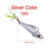 1PC Pencil-VIB Fishing Lures 7cm-8cm / 15g-20g Bass Bait 6 # High Carbon Hook с пером 2 цвета Metal Bait Fishing Sackle