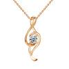 Yoursfs® 18K Белое золото с покрытием Классическое музыкальное ожерелье для нот Использование австрийского хрустального модного драгоценного камня