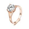 Yoursfs @ [День матери] Свадебные обручальные кольца Yoursfs для женщин, 18-каратное розовое золото, покрытое блестками CZ, принцесса-куша