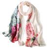 летом 2017 года новая мода шелковый шарф пляж управление Paty шелковый шарф чистый шелк collarette женщинам подарки винтаж чернила летом 2017 года новая мода осень   весна