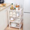 Длинные Шида (longstar) 4 кухни стойки для хранения стойки хранения полки подвижного пола слой белого L-060