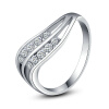 Yoursfs@ Fashionable Vintage Rings For Women Austrian Crystal Charm Wedding/Engagement Body Sexy Jewelry Accessories characteristic floral and butterfly shape lace decorated body jewelry for women