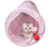 Зай Зай Ji Китти Кэт туннель через один туннель зазвонила бумаги Yi кошачьи игрушки просверлить складные трубы розовыми