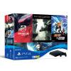 Sony (SONY) [хозяин] Госбанк PS4 PlayStation 4 игровой консоли шедевр костюм 500GB (черный) с четырьмя играми игровая консоль playstation 4 500gb horizon zerodawn gow 3 uc 4 3мес ps plus