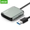 Green (llano) устройство для чтения карт памяти многофункциональное многобуквенное устройство чтения карт памяти USB3.0 высокоскоростной считыватель карт для карт памяти SD / TF / CF / MS 0,5 м металлический серый футляр для карт памяти jjc mchsdmsd6gr