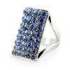 Yoursfs@ Four row Rhinestone crystal Sapphire ring 18K White Gold Plated Square Bridal Wedding Ring видеоигра бука saints row iv re elected