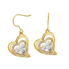 Yoursfs@ Romantic Heart of Shape Promise Dangle Earrings For Women Vintage Earring Jewelry Christmas Gifts Online Shopping India
