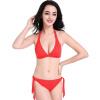 Sexy Bikini Lady Swimwear Твердый цвет популярный Sexy Bikini No Chest Pad High Elastic Swimsuit