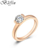 BAFFIN Rose Gold Plated Crystal Wedding Rings Cubic Zirconia For Women Party Jewelry Accessories Girls Gift wedding bride flower headband romantic floral headwear for women girls fashion summer wreath hair accessories