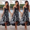CANIS @ Women Summer Boho Шифон Вечерние пляжные платья Длинные платья Maxi Сарафан S вечерние платья в старом осколе