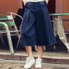 Fairwhale новые зимние 2016 женщин джинсовые широкие брюки ноги свободные джинсы 7 брюки моды высокой талии брюки сапфировый синий S прямые широкие женские зимние брюки