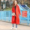 Fairwhale 2017 осень новый длинное пальто женщин женское пальто сплошной цвет простой красный S 426 316 031 002