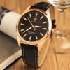 Розовое золото Часы Мужчины 2017 Лучшие бренды Известный Мужской часы Кварцевые часы Золотой Wrristwatch Элегантные кварцевые часы