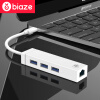 BIAZE USB разветвитель TYPE-C включить Macbook USB расширения концентратор HUB разветвитель с поддержкой Fast Ethernet для Apple Mac Huawei проса версии zh-29-PC usb3 0 round type panel mounting usb connecter silver surface