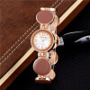 Новые модные браслеты женские женские роскошные бренды из нержавеющей стали розовые золотые часы дамы кварцевые часы