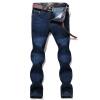 Battlefield Jeep мужские джинсовые брюки простой комфорт случайные брюки тонкой талии джинсы мужчины прямые джинсы джинсы синий Z3A58 34 battlefield 3 для ps3 онлайн