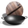 Литой 36см колосья колосья утюги плоские утюги варочные горшки плита общие деревянные обложки раздел