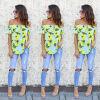 CANIS @ Мода женщин дамы летом с плеча рубашки Loose повседневной блузки топы футболки