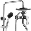 BSITN Бостон весь набор меди ванны смеситель для душа смеситель для душа три бустера ручной душ головной части колонны B1710-1 смеситель raf roma ro54 m00055105 для ванны