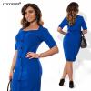COCOEPPS модные плюс размер случайные женщины платье 2017 осень лето стиль твердых до колен платье платье синее платье платье