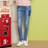 Semir (Semir) 2017 осень новый женские джинсы женщина была тонкой брюки Корейский тонкий брюки ноги волна 11316240004 Б.Ф. ветер брюки темно-синие джинсы 26 женские синие брюки