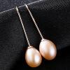 BAFFIN Серебряные серьги с каплями c Природные пресноводные жемчужины Позолоченные ювелирные изделия