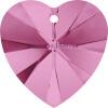 1PCS Оригинальный кристалл от SWAROVSKI 6228 XILION Сердце Подвеска Ювелирные изделия из бисера 14.4mm*14.0mm