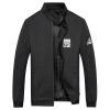 Бойцовский джип Джек Мужчины Мужчины Случайные короткие топы Бейсбольная рубашка Модные куртки Мужчины Тонкие мужские куртки 17121Z7003 Черный 4XL куртки