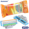 Giulietta Brand Razor Blade For Men Stainless Steel Blade 3 Layer 4 Pieces Simple And Affordable Material D3-LL