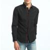Мода Мужская рубашка с длинными рукавами Топы Хит цветные кнопки Мужские рубашки для мужчин Тонкая мужская рубашка Негабаритная XXXL