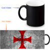 The Knights Templar 350ml/12oz Heat Reveal Mug Color Change Coffee Cup Sensitive Morphing Mugs Magic Mug Milk Tea Cups the templar throne