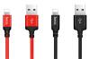 X14 Time Speed Charging Cable Нейлоновый плетеный USB-костюм для Apple to Lightning Совместимый кабель - красный или черный кабель ginzzu lightning usb 2 0 1 2м черный [gc 550b]