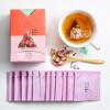Чай (чали) сочетание травяной чай с чайными пакетиками чайной розы чайные розы чайные розы чайные пакетики 12 чайных пакетиков / коробка