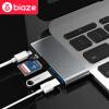 цена на BIAZE нового Apple MacBook Pro аксессуаров для ноутбуков USB-с преобразователем ступицей ступицей типа с адаптером для чтения двойной USB3.0 SD карты R1- серого