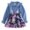 новые девочки ковбой платье платье из хлопка девочки осенью одежду детей платьев