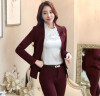 Novelty Wine Fashion Slim Autumn Winter Professional Long Sleeve Business Women Jackets Blazers Female Tops Outwear Ladies Coat new fashion women autumn winter slim sweater female turtleneck long sleeve thick medium long knitted pullover one piece dress