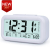 Large Digital Alarm Clock LCD Student Bedroom Electronic Clock Snooze Sensor Kids Table Clock School Product Night Light 2 Alarm novelty run around wake up n catch me digital alarm clock on wheels white 4 aaa