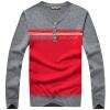 Battlefield Jeep мужской случайный свитер Тонкого V-образный вырез свитера большого кода база рубашки 16001Z5002 синего сапфир XL